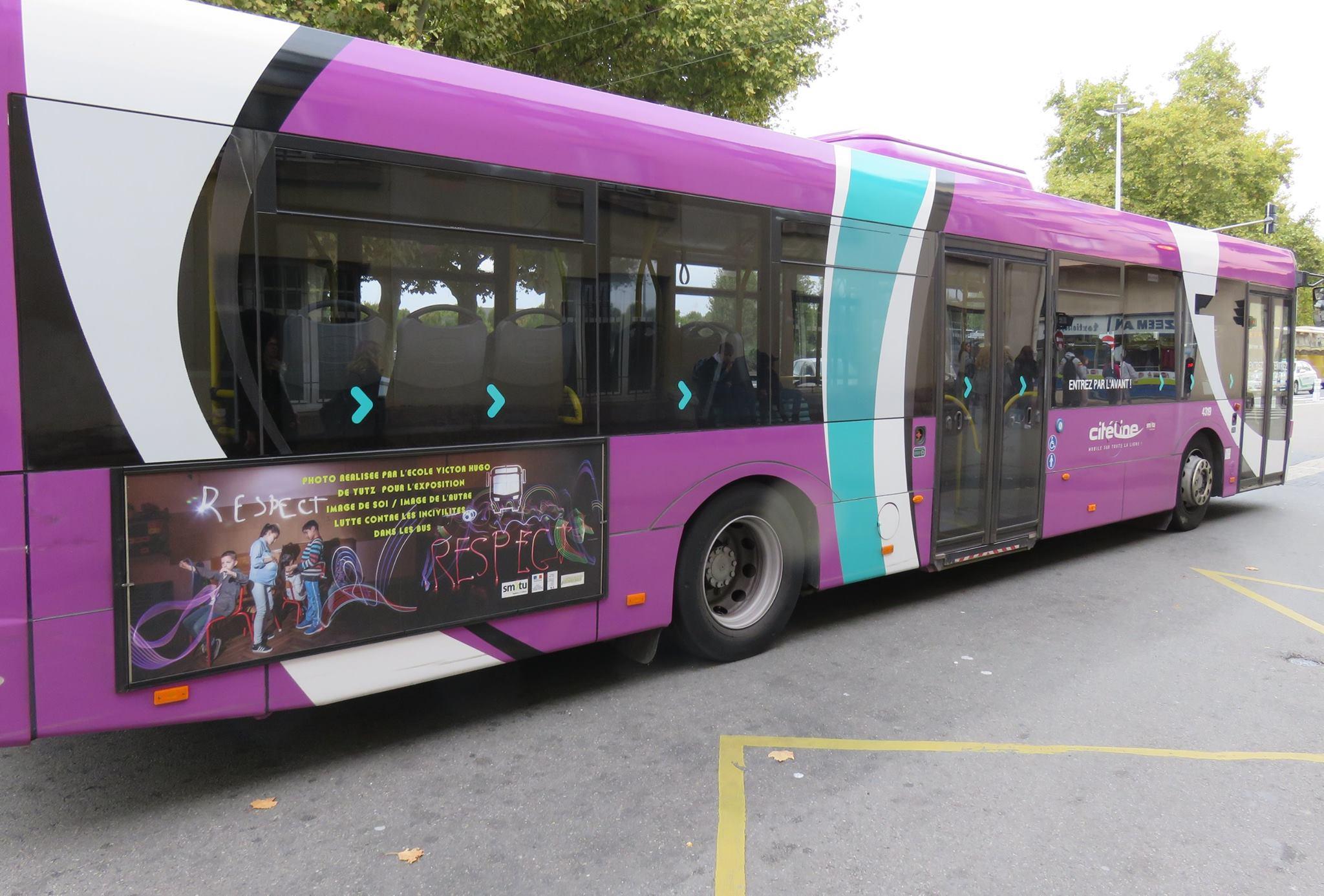 Campagne publicitaire de lutte contre les incivilités dans les bus