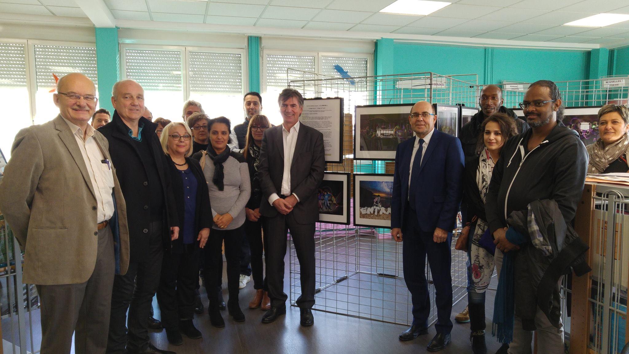 Vernissage de l'exposition « Image de soi – Image de de l'autre » au CDI du Collège Charles de Gaulle de Fameck